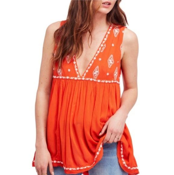 Free People Dresses & Skirts - Free People Flame Combo Mini Swing Dress Top 3281